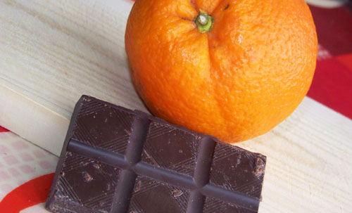 Chocolate y naranja