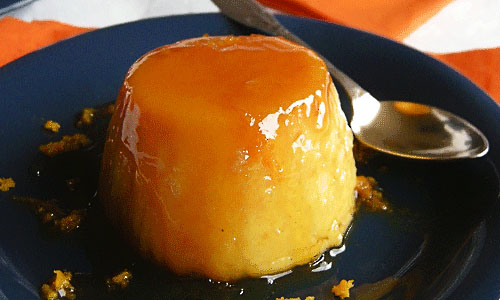Flan de Arroz a la Naranja