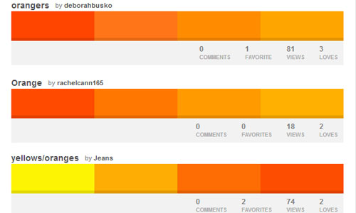 Color Naranja: Paletas de Colores - ColourLovers