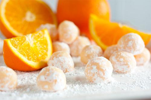 Trufas de Chocolate Blanco y Naranja