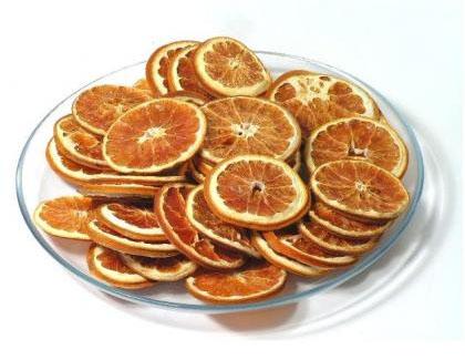 naranjas deshidratadas