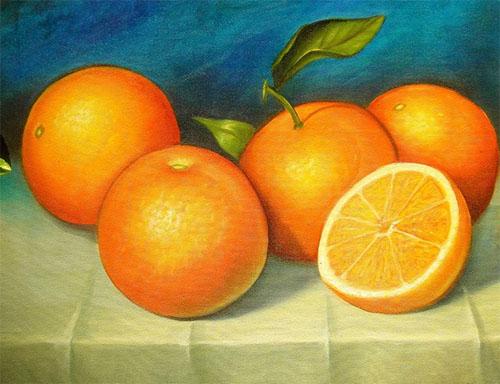 Como dibujar y pintar una naranja ii preparando los - Como hacer color naranja ...